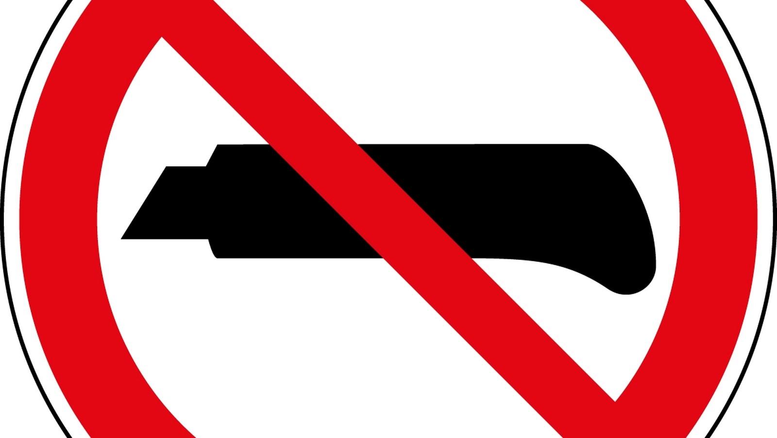 Ein Teppichmesser in der Leipziger Waffenverbotszone.