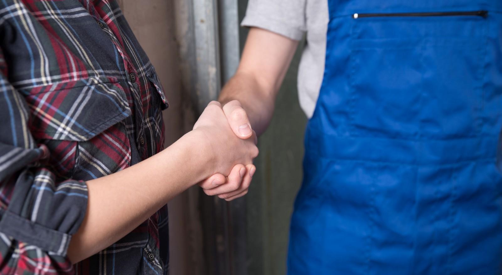 Die meisten Auftraggeber sind mit ihren Handwerkern zufrieden.
