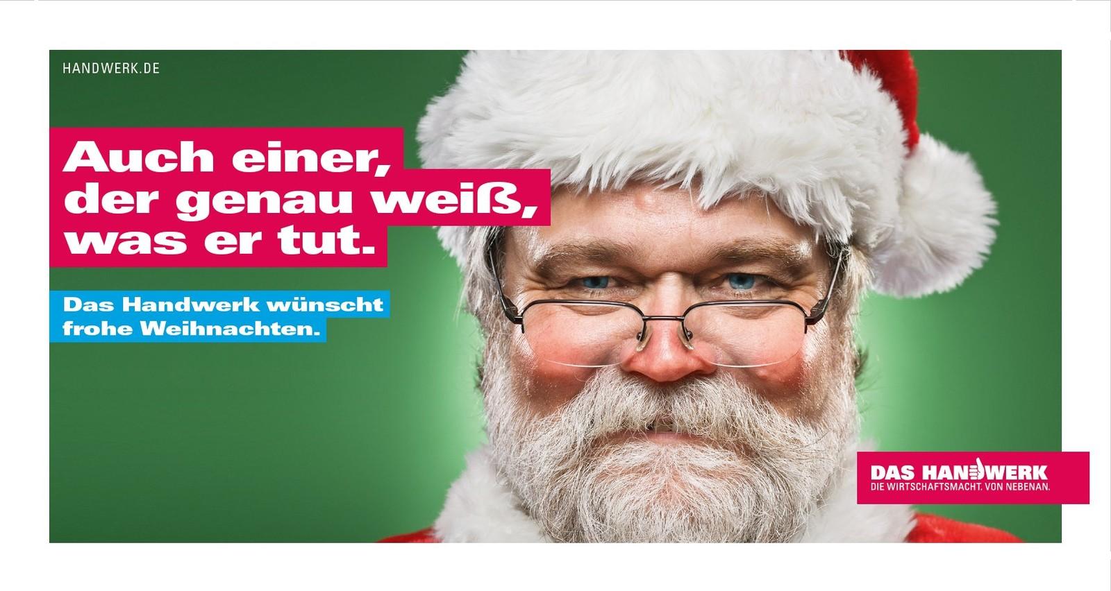 Dieses Motiv zeigt eine von zwei neuen Weihnachtskarten, die Handwerker dieses Jahr an ihre Kunden schicken können.