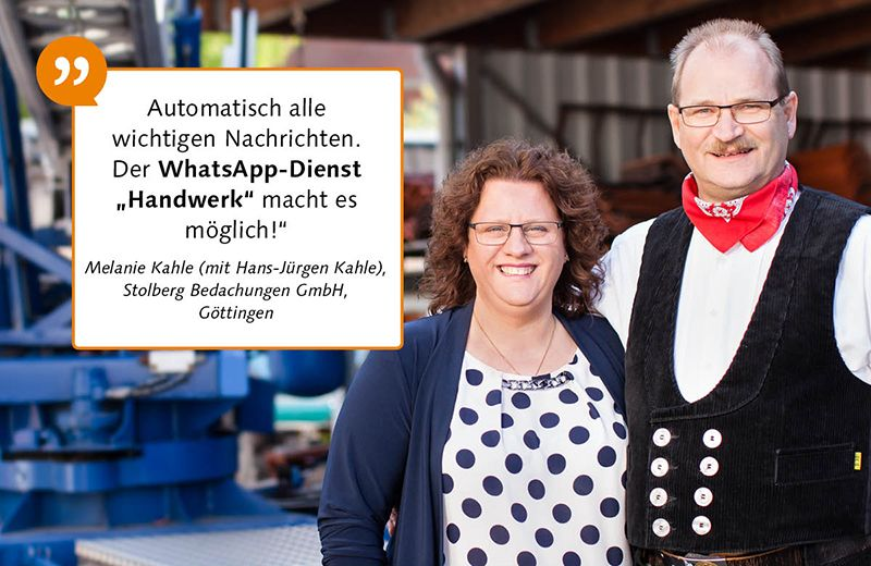 Testimonals handwerk Whatsapp