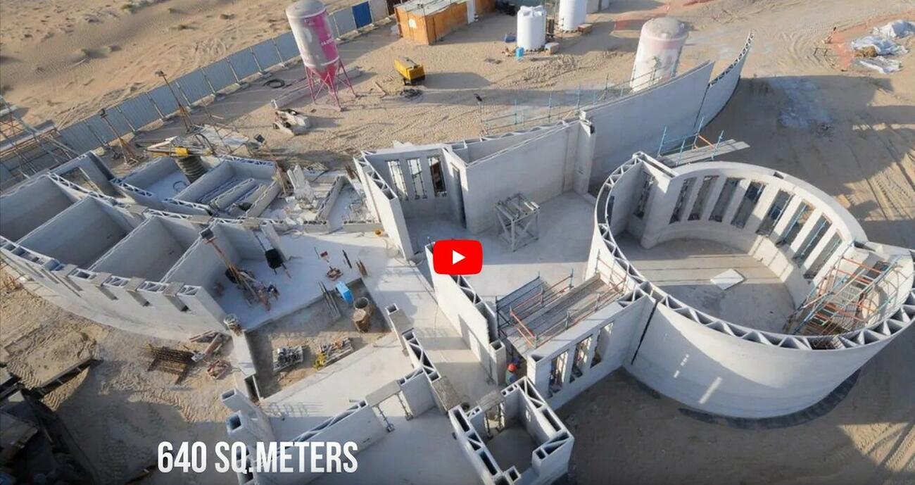So ist das größte 3D-Druck-Haus der Welt entstanden