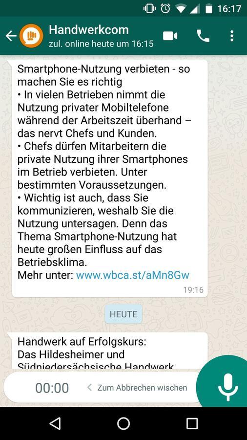 Whatsapp-Recorder: die etwas andere Sprachnachricht | handwerk.com